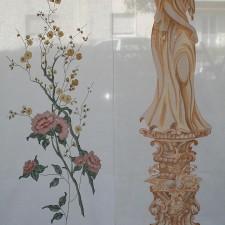 Α18 Πάνελ με λουλούδι Banju και άγαλμα Traumfrau
